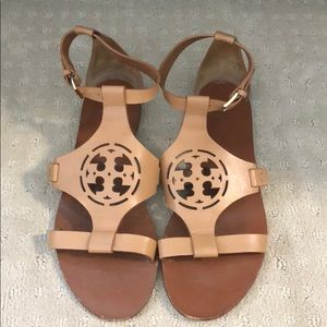 Tory Burch Size 8M Leather Tan Sandal